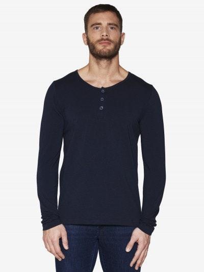 T-shirt tunisien bleu marine - manches longue