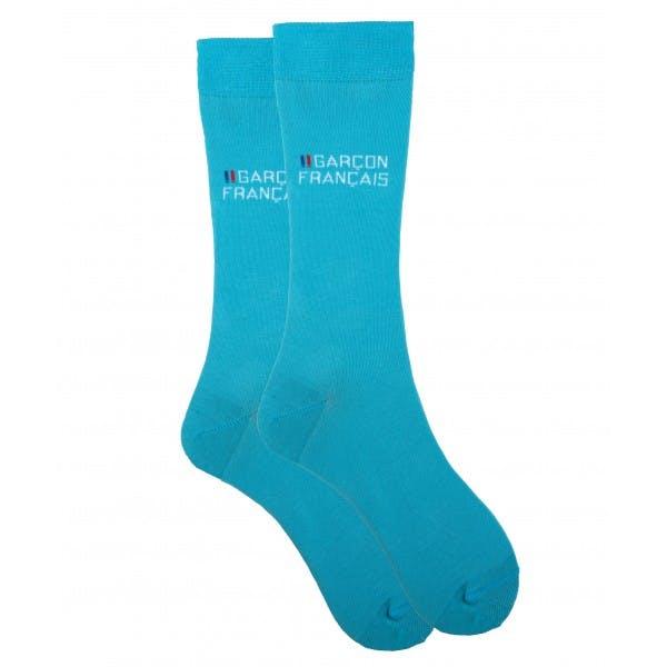 Turquoise city socks