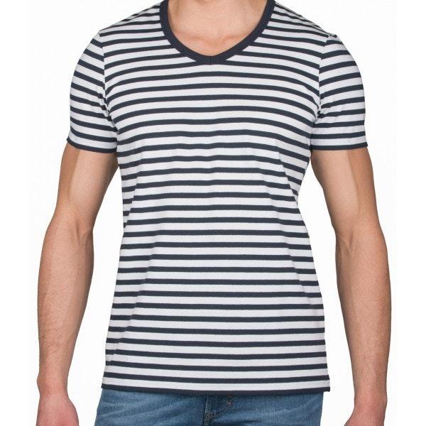 T-shirt V Marinière
