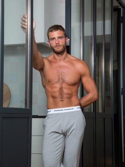 Pantalon pyjama gris chiné