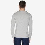 T-shirt tunisien gris chiné - manches longues