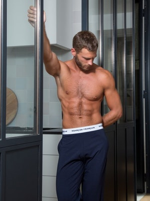 Navy blue pyjama bottom