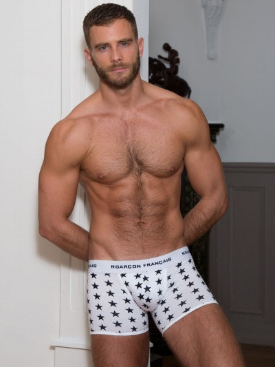 Boxer long blanc étoiles
