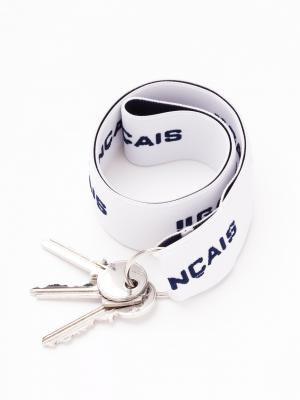 Porte-clefs blanc