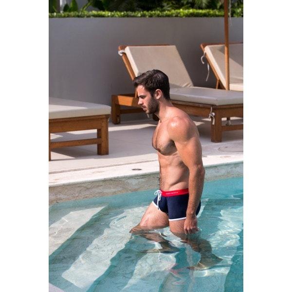 Boxer de bain tricolore