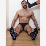 Navy blue stars socks