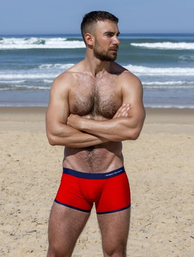 Red swim trunk - embroidery