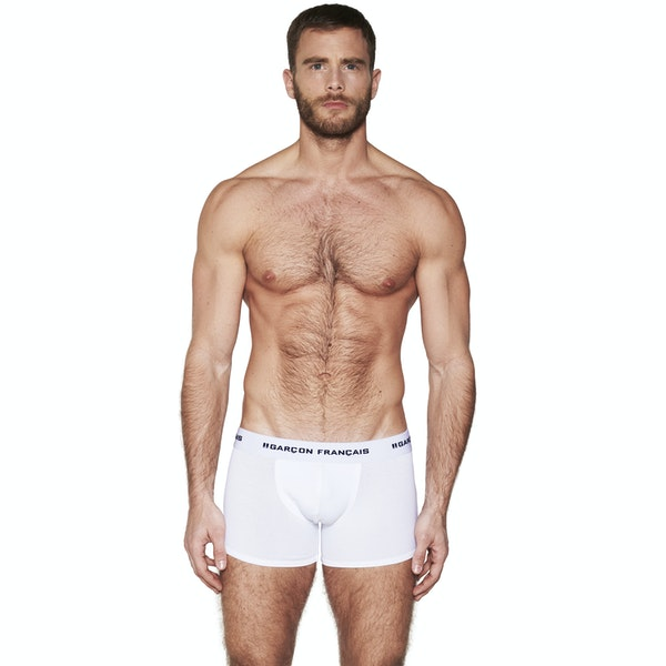 Boxer long blanc Indispensable