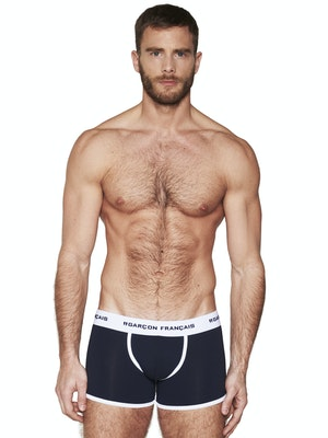 Long navy blue boxer