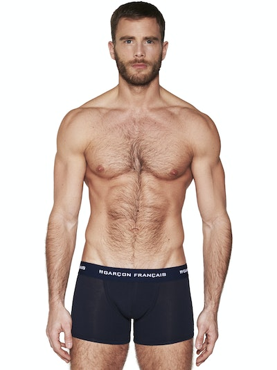 Long navy blue boxer Essential