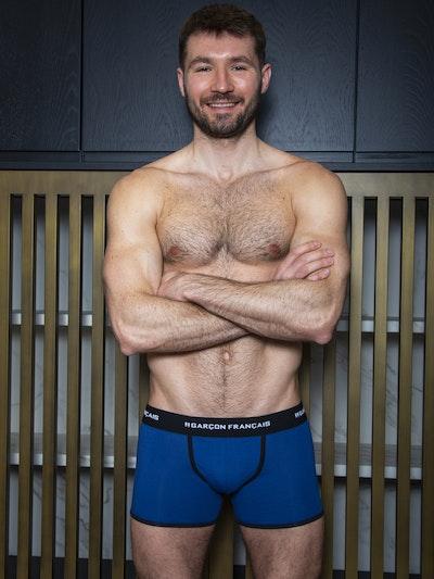 Boxer long bleu roi