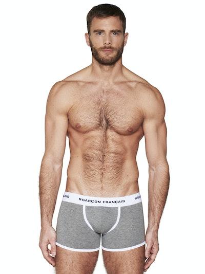 Boxer long gris