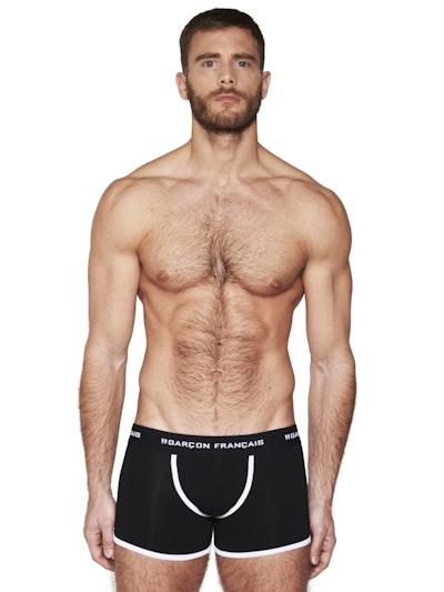 Long black boxer