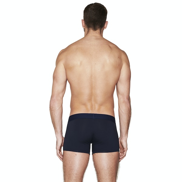 long pure navy boxer