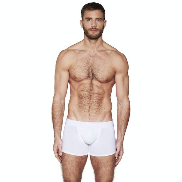 Long pure white boxer