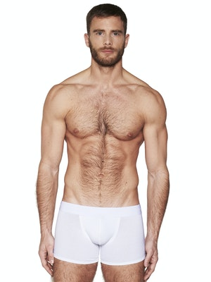 Boxer long pure white