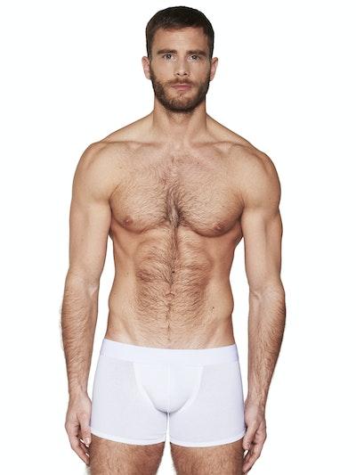 Boxer long pure white
