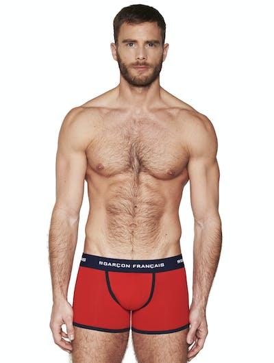 Boxer long rouge