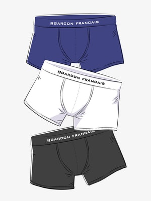 """Long boxers - 3 pack """"The Essentials"""""""