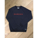 Navy blue & red sweat-shirt