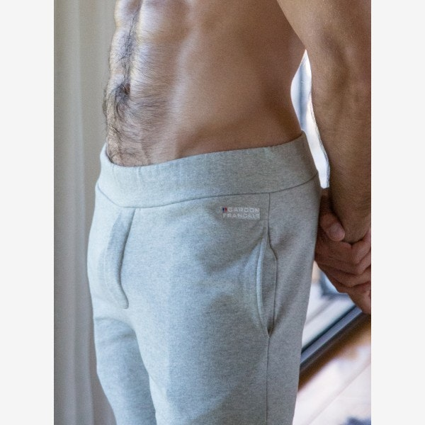 Pantalon jogging gris en tissu recyclé
