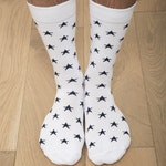 Chaussettes blanches étoiles