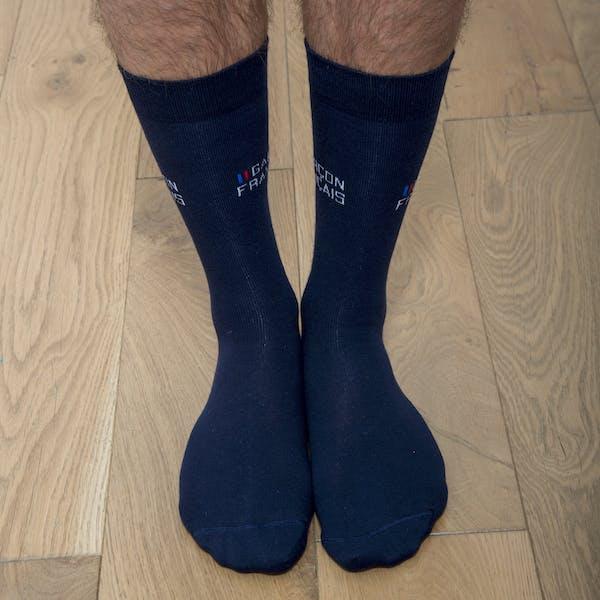 Navy blue city socks