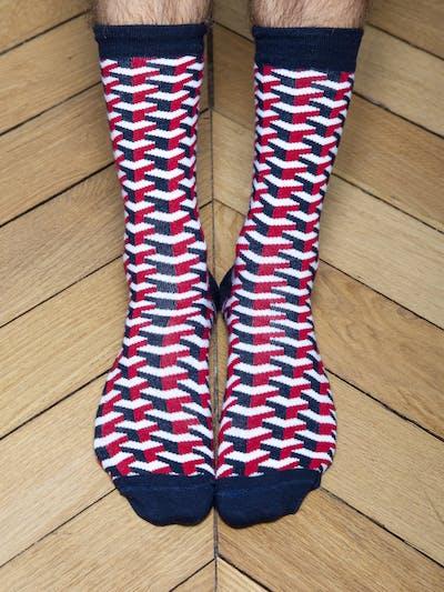 Chaussettes géométriques