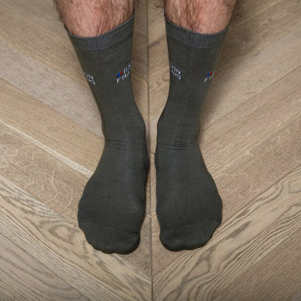 Green khaki socks