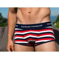 Boxer rayures tricolores