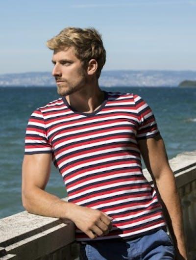 Patriot Striped T-shirt V-neck