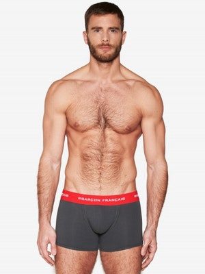 Boxer long anthracite