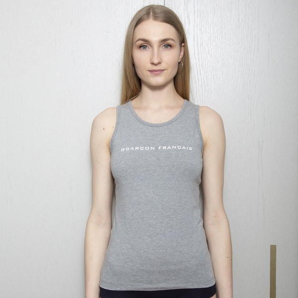 Débardeur femme gris