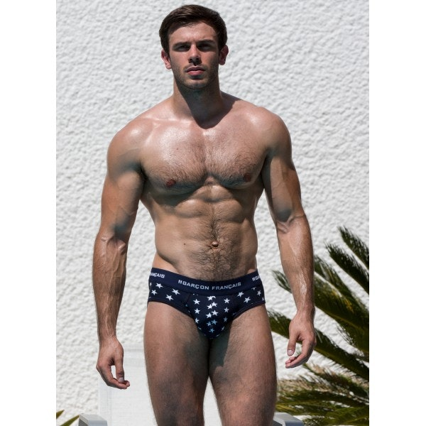 Navy blue stars brief