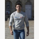 Grey & tricolor sweat with recycled fabric