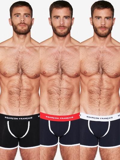 Pack de trois boxers longs