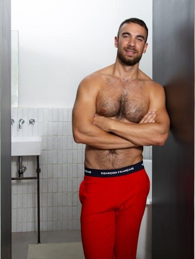 Pantalon pyjama rouge