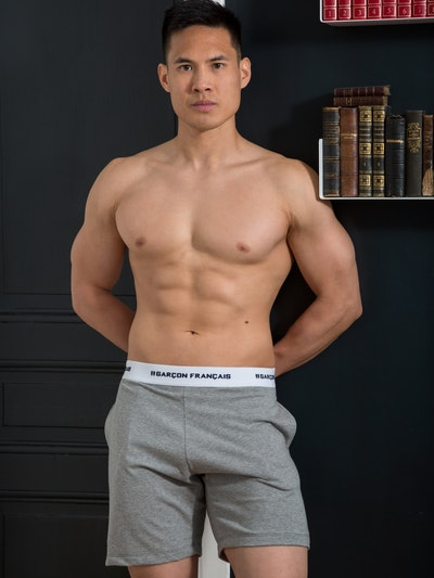 Grey short pyjama bottom