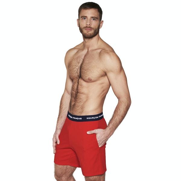 Red short pyjama bottom