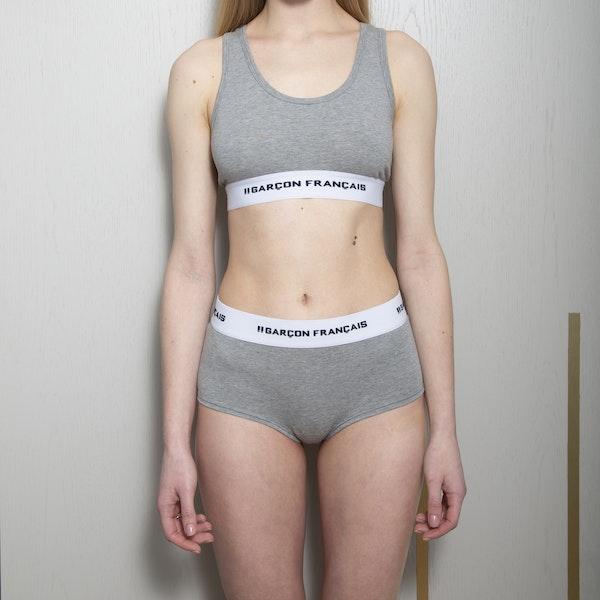 Shorty femme gris