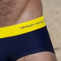 Yellow swim brief - embroidery