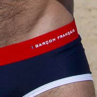 Flag swim brief - embroidery