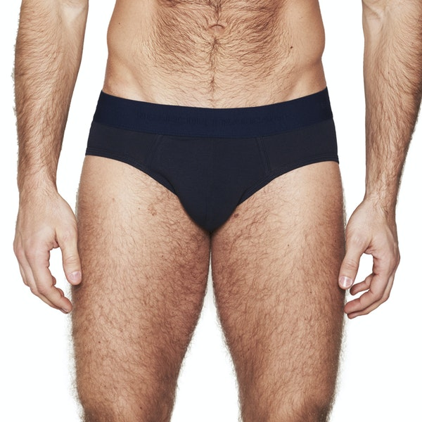 pure navy brief