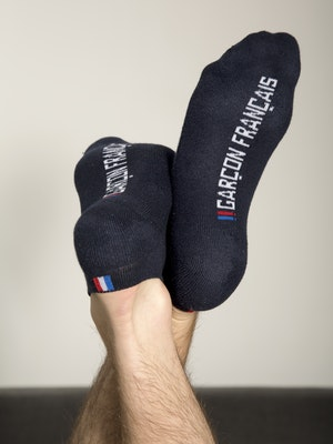 Navy blue ankle socks