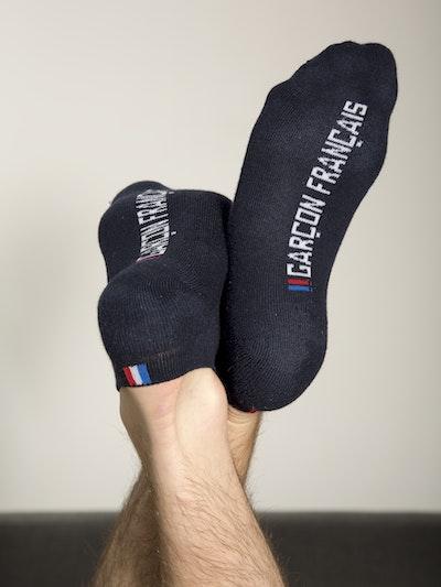 Navy blue ankle socks