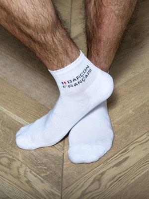 Socquettes hautes blanches