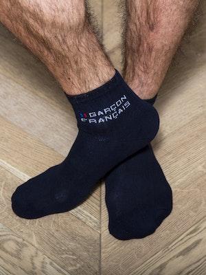 Socquettes hautes bleu marine