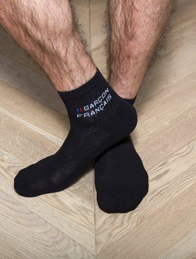 Socquettes hautes noires