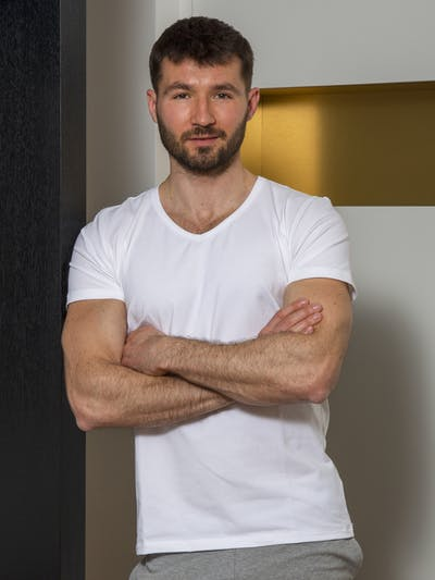T-shirt blanc col V - Indispensable